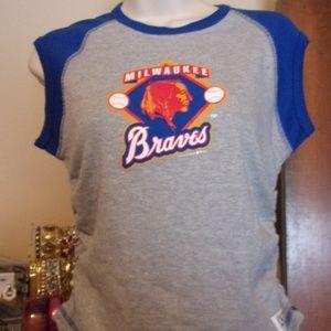 Milwaukee Braves Women's T-Shirt Cooperstown Sz L